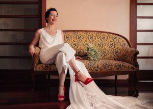 Zapatos color novia